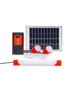 Mobile Charging +Solar Home System 1 Tube Lights, 2 Bulb & 1 Torch 5 hr. Back up