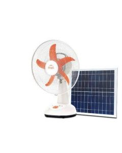 Solar & Electrical Charging Fan with 8 hr. Back up